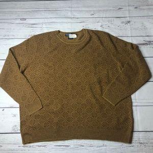 Polo Ralph Lauren Men 3XLT Brown Knit Sweater WOOL